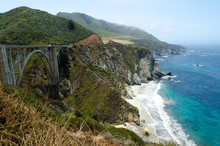 View On Pacific Cost In Big Sur. California USA.