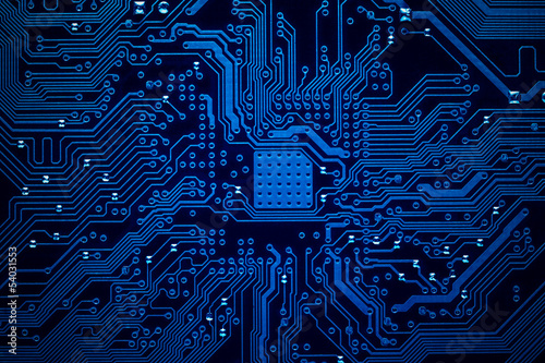 Fotografiet  Circuit board background