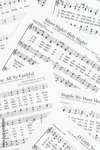 Cuadros en Lienzo Sheets of Christmas carols.