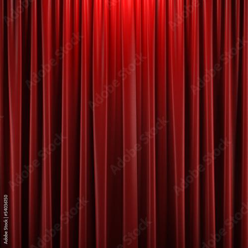 Fotografía  Red closed curtain