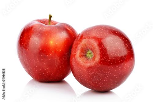 Fototapeta Czerwone jabłka na białym tle obraz
