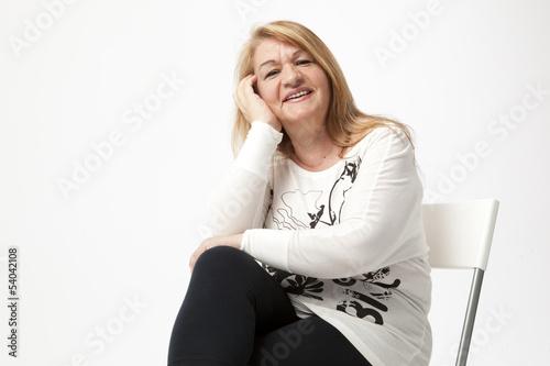 Recess Fitting Hair Salon senior woman portait sitting and smiling