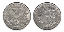 Silver Morgan Dollar Front And...