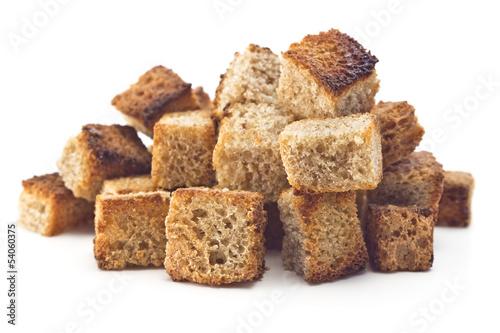Fotografía  toasted bread croutons
