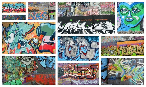 Foto auf Leinwand Graffiti collage collage...graffiti
