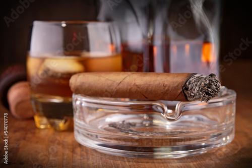 Poster de jardin Bar whisky and cigar