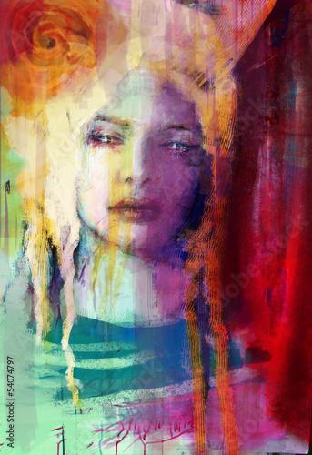 Fototapeta Kobieta w pastelach
