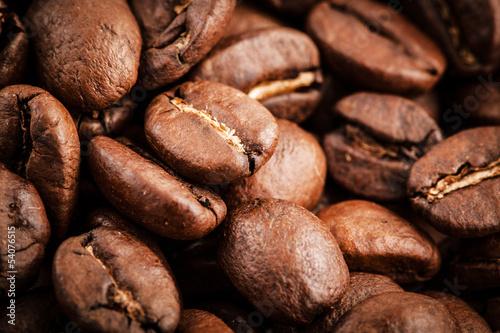Canvas Prints Coffee beans coffee macro