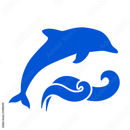 Staande foto Dolfijnen Dolphin Silhouette