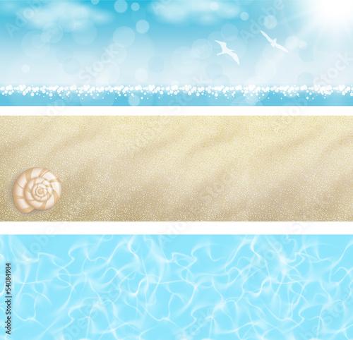 Fotografía Set Banner spiaggia