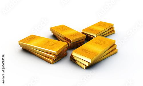 Aluminium Prints Grocery gold ingots