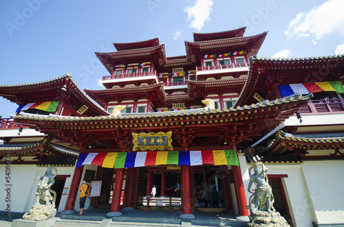 Buddha Tooth Relic Temple in China Town ,  Singapore