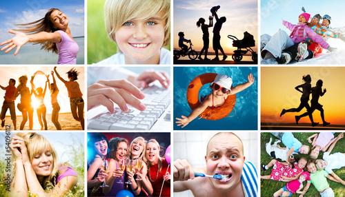 Fotografie, Obraz  emotional happy people