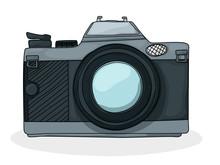 Retro Cartoon Foto Camera
