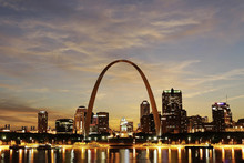 St. Louis Skyline At Twilight,...