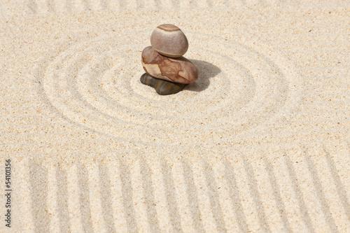 Photo sur Plexiglas Zen pierres a sable galets sur sable