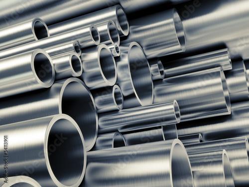 Fotografie, Obraz  Metal Pipes