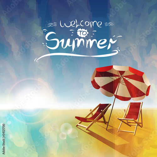 Plakat na zamówienie Seaside background. Can be a summer background