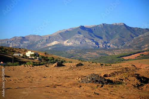 Rif Mountains landscape, Morocco, Africa