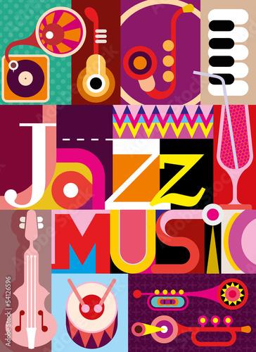 Obraz w ramie Jazz music