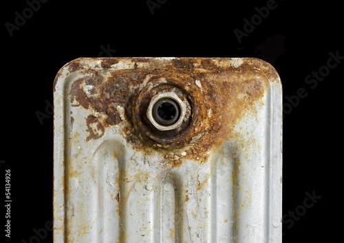 Foto op Plexiglas Chicago Rusty household cast iron radiator