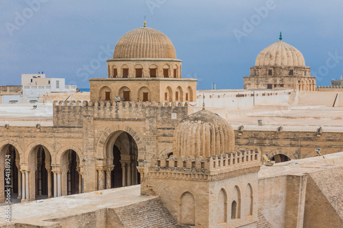 Poster Tunesië mosque in Kairouan, Tunisia