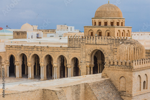 Tuinposter Tunesië mosque in Kairouan, Tunisia