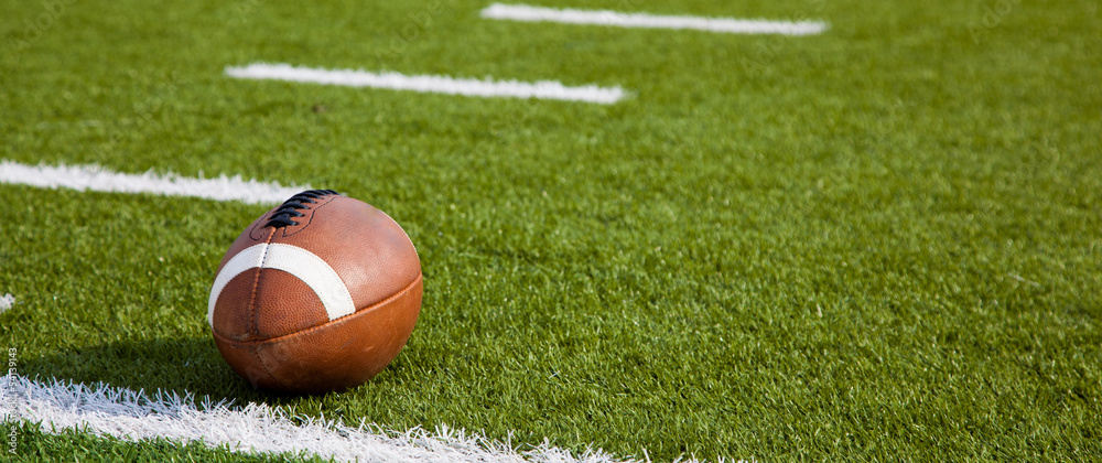 Fototapeta An American football on field
