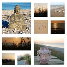 Collage Entspannung Am Meer