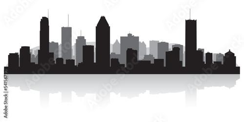 Montreal Canada city skyline vector silhouette