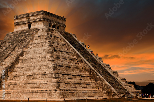 Foto op Canvas Mexico Kukulkan Pyramid in Chichen Itza Site, Mexico