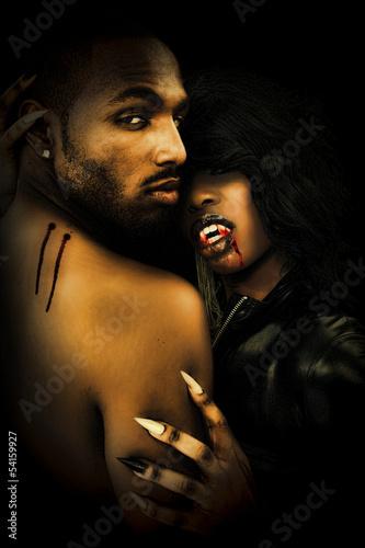 Photo  Sexy Black Vampire Couple
