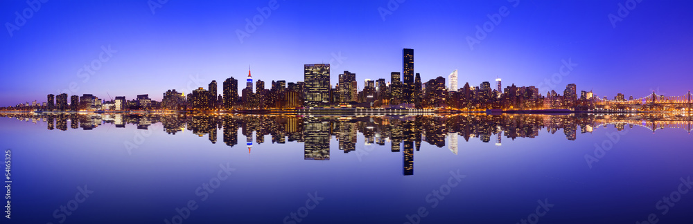 Fototapety, obrazy: Midtown Manhattan Skyline Panorama