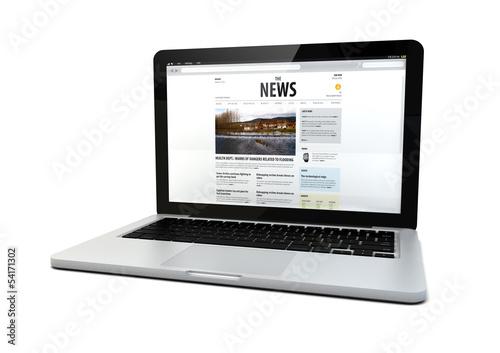 Fotografía  news laptop
