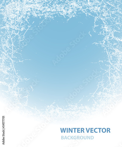 Background  with rime for winter holiday Fototapeta