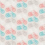 Rowery wzór w stylu retro. - 54181503