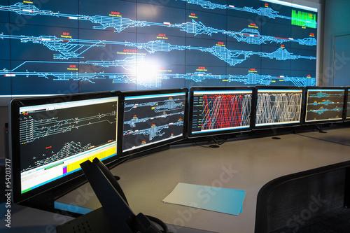 Photo  control room of railway