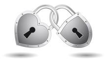 Padlock Lock Heart Icon Concept