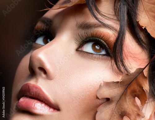 Poster - Autumn Woman Fashion Portrait. Fall