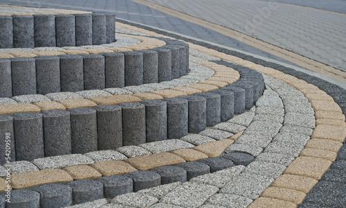 pattern on the pavement - fototapety na wymiar
