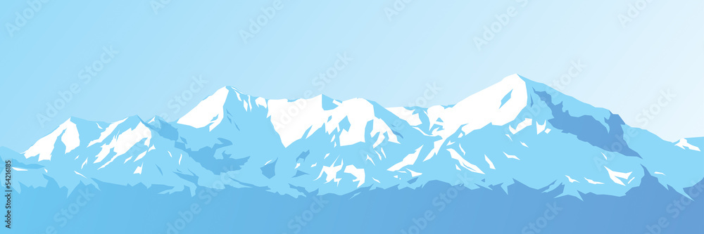 Fototapeta mountains against the blue sky