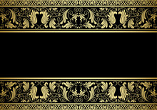 Gilded Frame With Decorative Elements