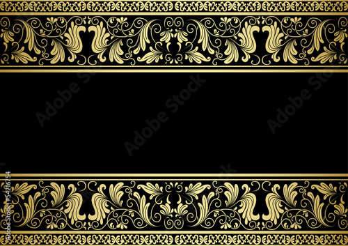 Fotomural  Gilded frame with decorative elements