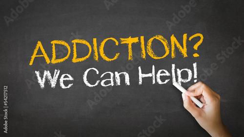 Photo Addiction We can Help Chalk Illustration