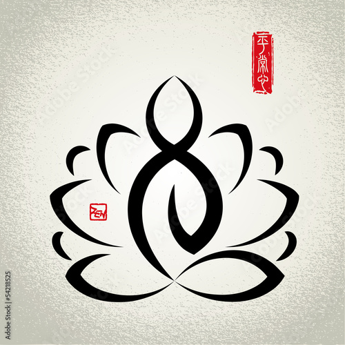 Photographie  Lotus and Zen meditation
