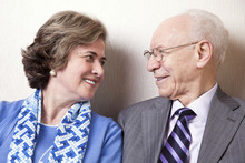 Elderly Couple In Love - Close Up
