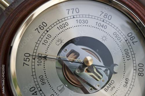 Barometer indicating atmospheric pressure reduction Wallpaper Mural