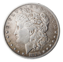 Morgan Dollar - Heads Frontal