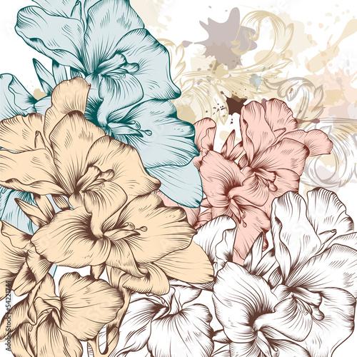 tlo-wektor-moda-z-kwiatami