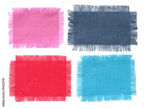 Fotografie, Obraz  blank fabric labels set